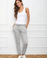 spodnie joggers basic szare flawless