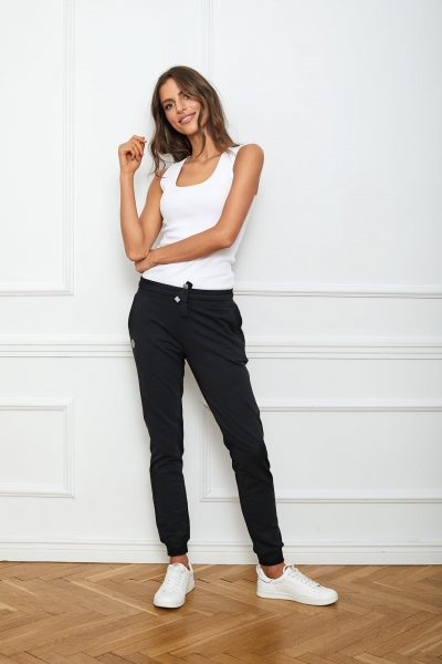 spodnie joggers basic czarne flawless
