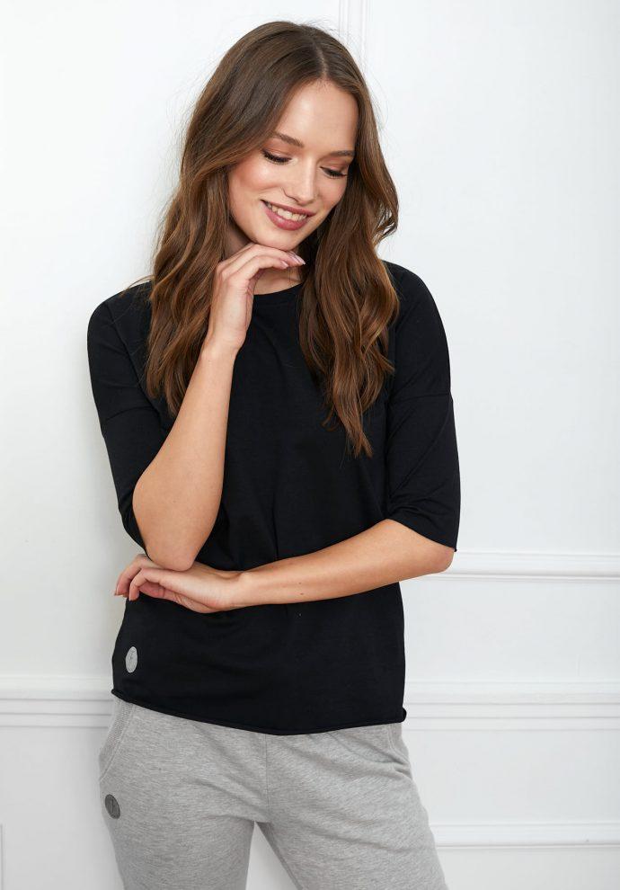 bluzka Luna basic czarna flawless