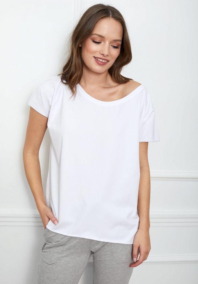 t-shirt Alice biały flawless