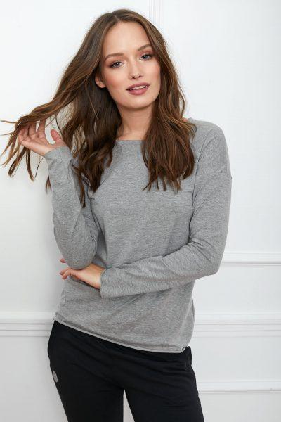 bluzka Emma basic szara flawless