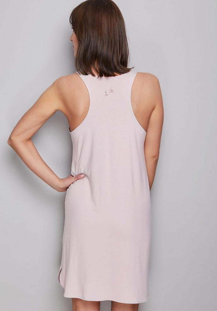 POWDER PINK NIGHT DRESS - ZDJĘCIE 2