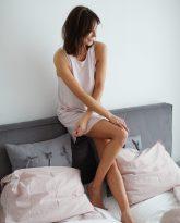 POWDER PINK NIGHT DRESS - ZDJĘCIE 3