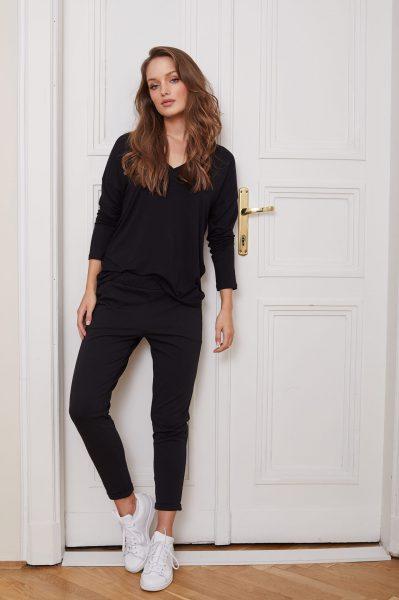 spodnie Bianca czarne flawless