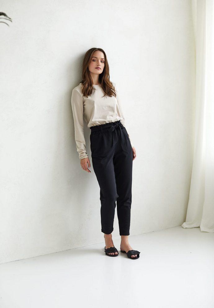 spodnie Nora czarne - zdjęcie 2