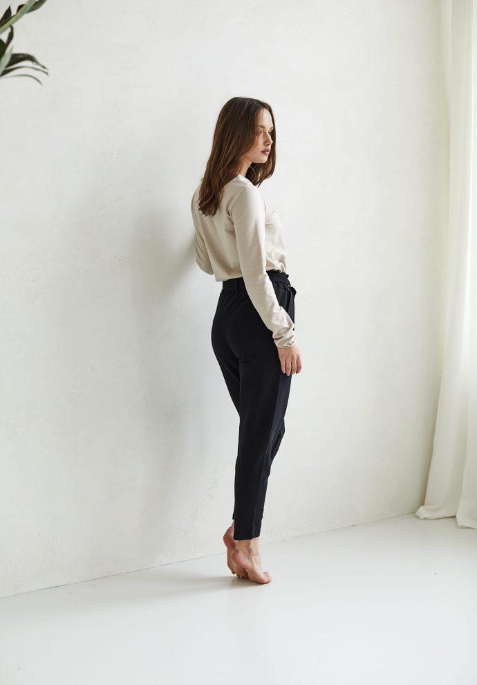 spodnie Nora czarne - zdjęcie 3