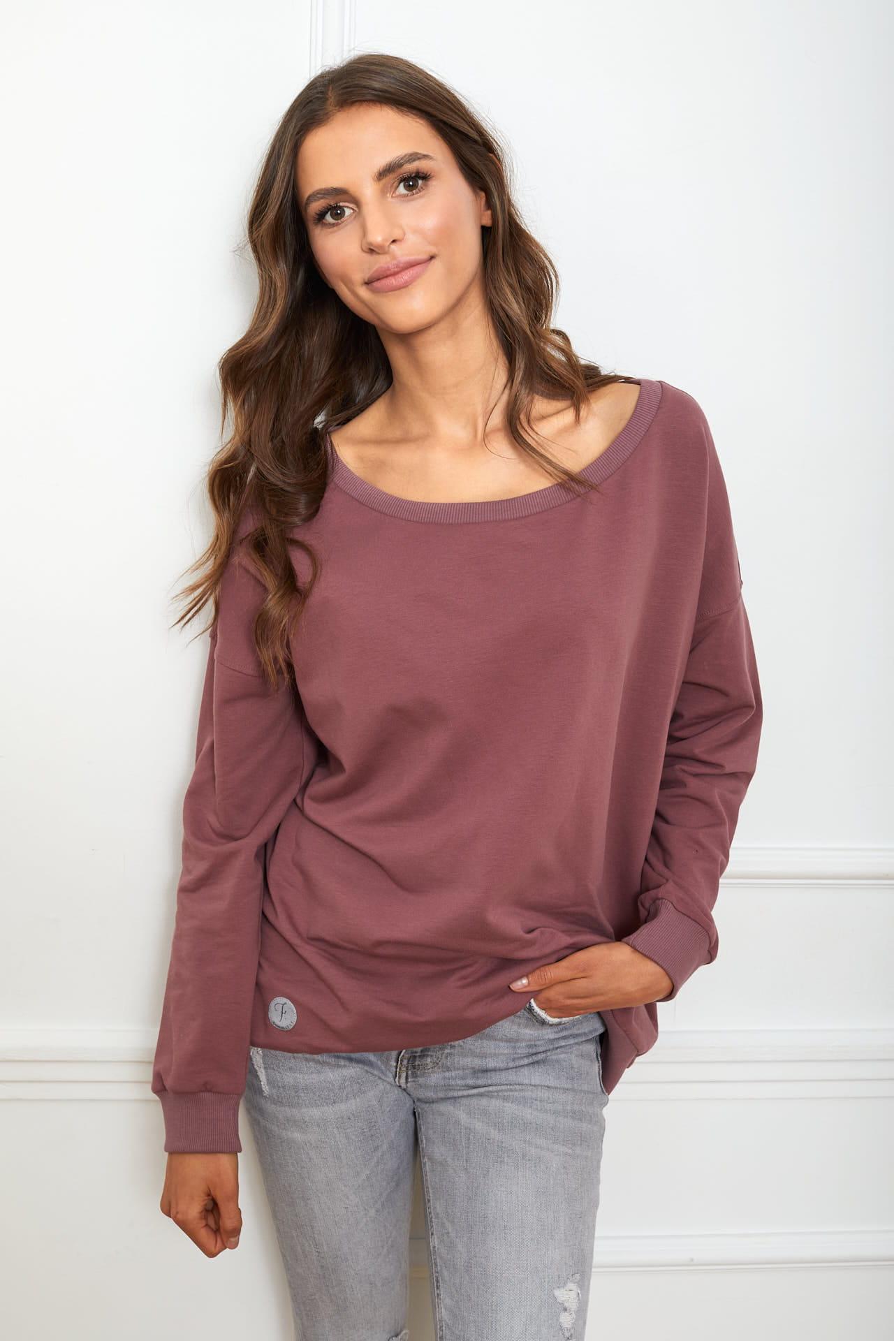 bluza Sienna śliwkowa Flawless