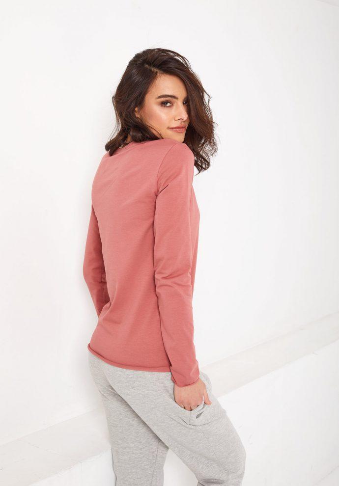 bluzka z długim rękawem Emma koralowa - zdjecie 2