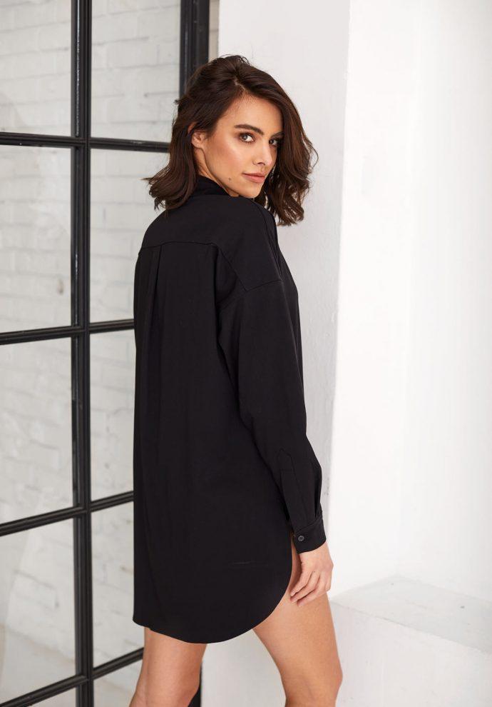 Koszula czarna Lisa-zdjecie 2