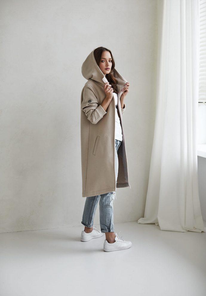 bluzo -płaszcz Carla piaskowa