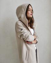 bluzo -płaszcz Carla piaskowa - zdjęcie 4