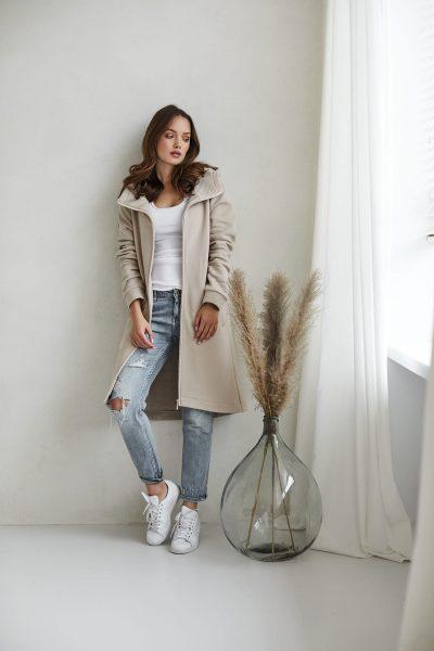 bluzo -płaszcz Carla piaskowa - zdjęcie 5
