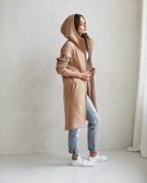 bluzo -płaszcz Carla kamelowa - zdjęcie 2