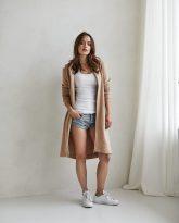 bluzo -płaszcz Carla kamelowa - zdjęcie 6