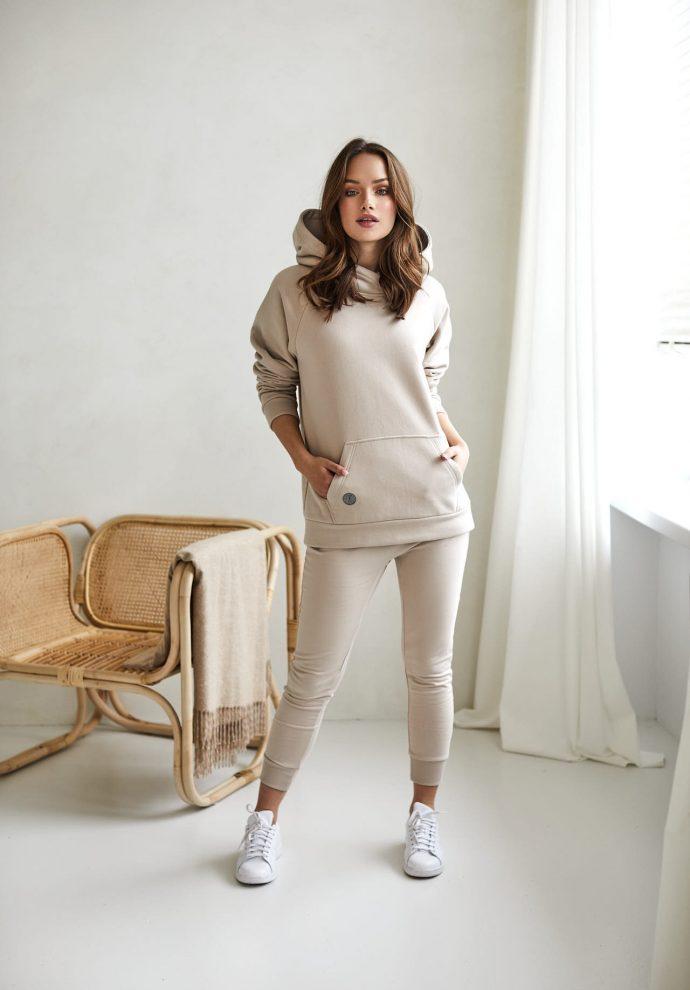 bluza z kapturem Rita piaskowa- zdjęcie 5