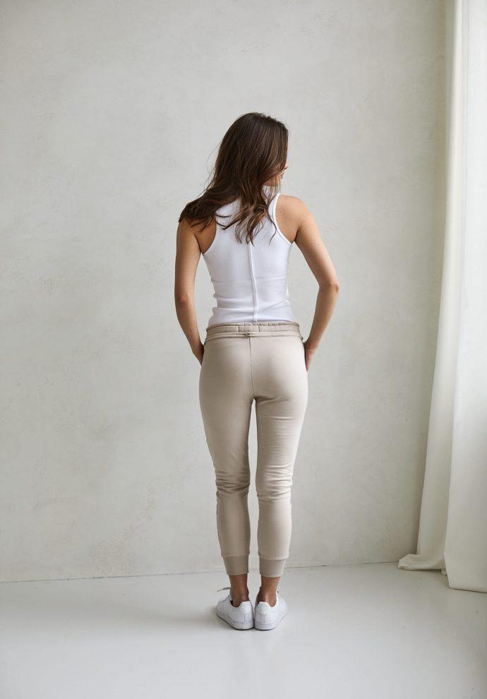 spodnie Baggy piaskowe- zdjęcie 2
