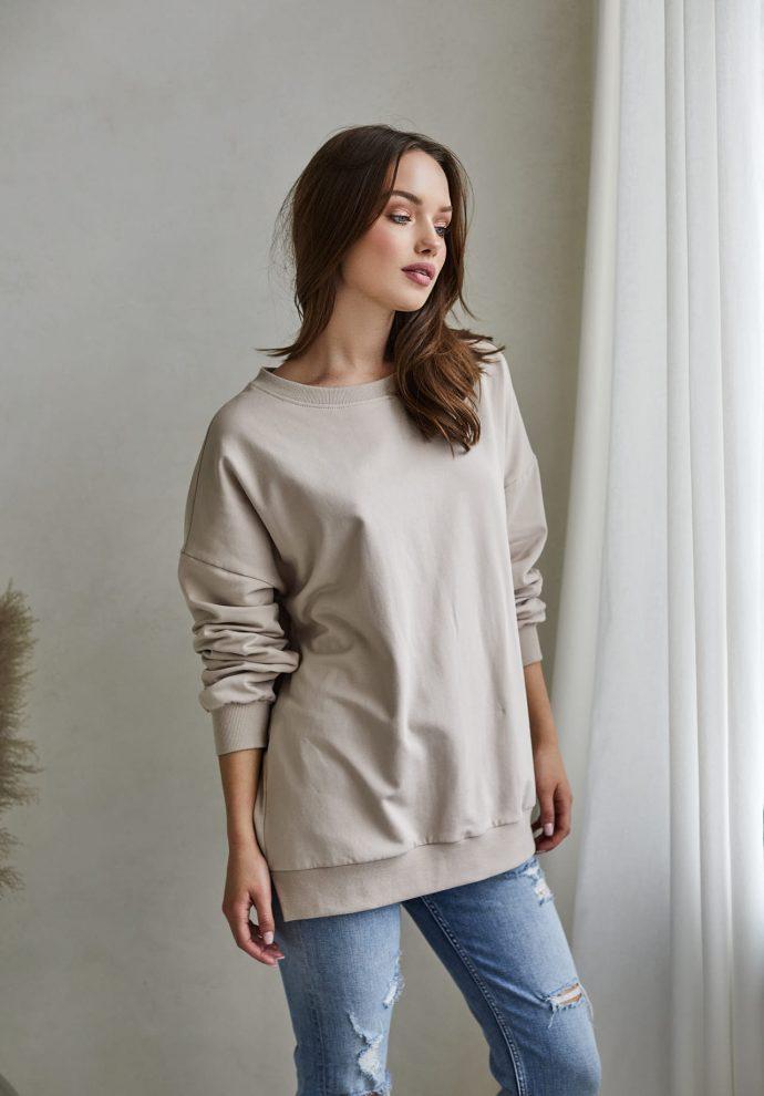 Bluza Camilla piaskowa- zdjęcie 2