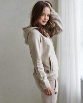 bluza z kapturem Grace piaskowa- zdjęcie 2