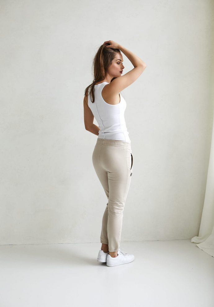 spodnie Grace piaskowe- zdjęcie 2