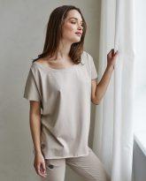t-shirt Alice piaskowy- zdjęcie 2