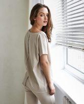 t-shirt Alice piaskowy- zdjęcie 3