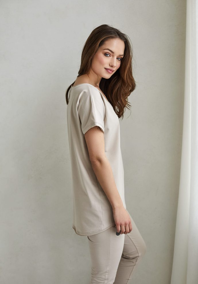 t-shirt Ella piaskowy- zdjęcie 2