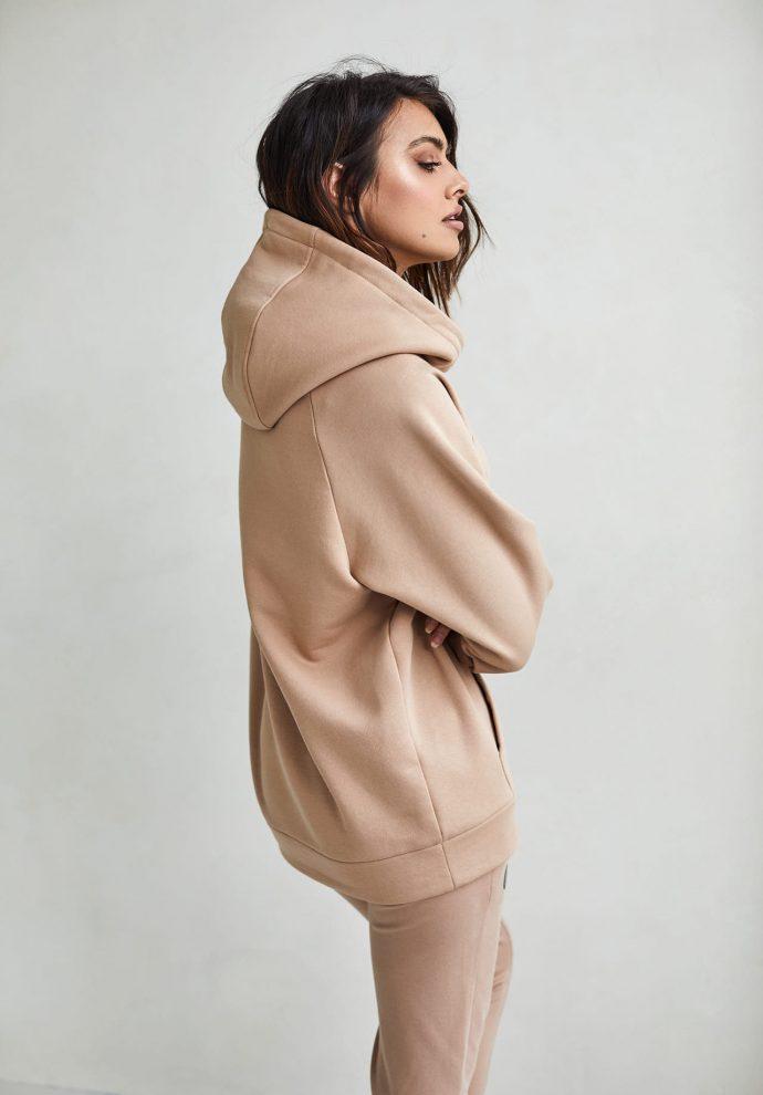 bluza z kapturem Rita kamelowa - zdjęcie 2