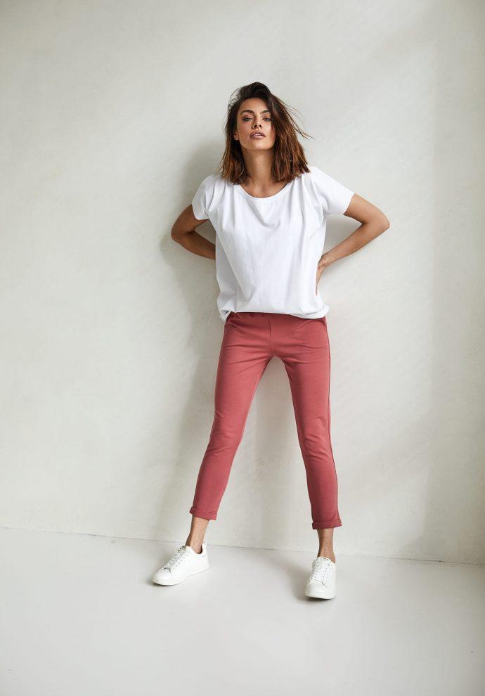 spodnie Bianca koralowe - zdjęcie 2