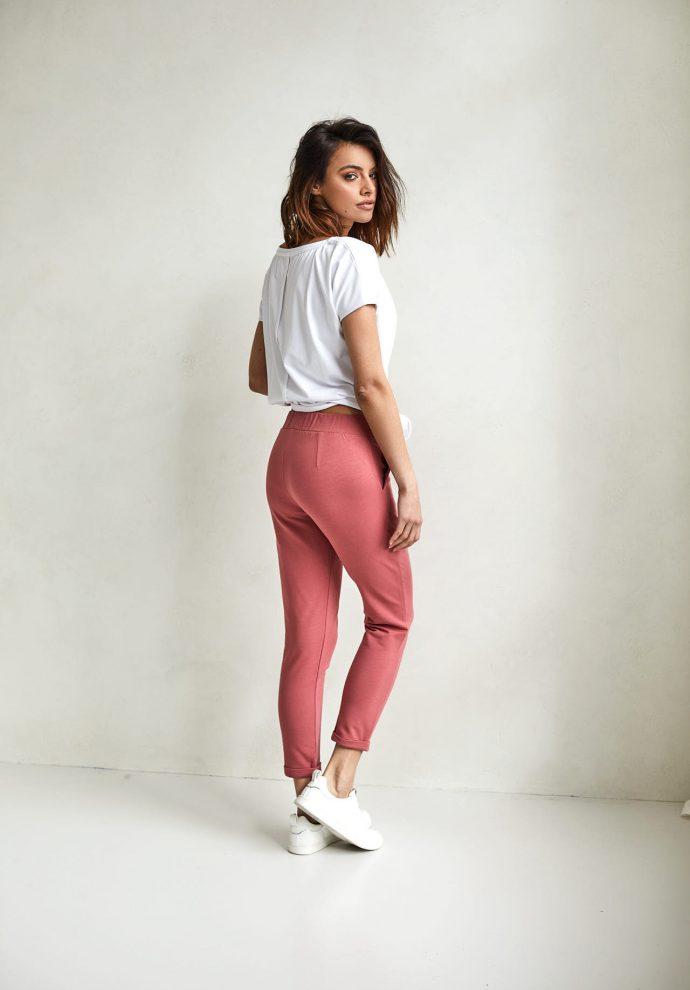 spodnie Bianca koralowe - zdjęcie 3