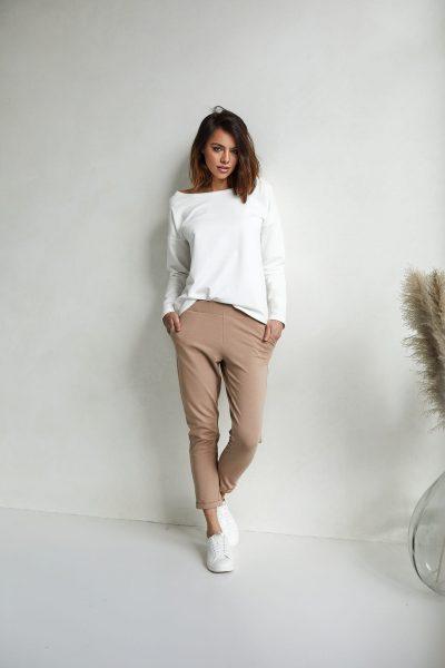 spodnie Bianca kamelowe