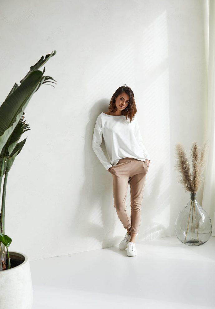 spodnie Bianca kamelowe - zdjęcie 3