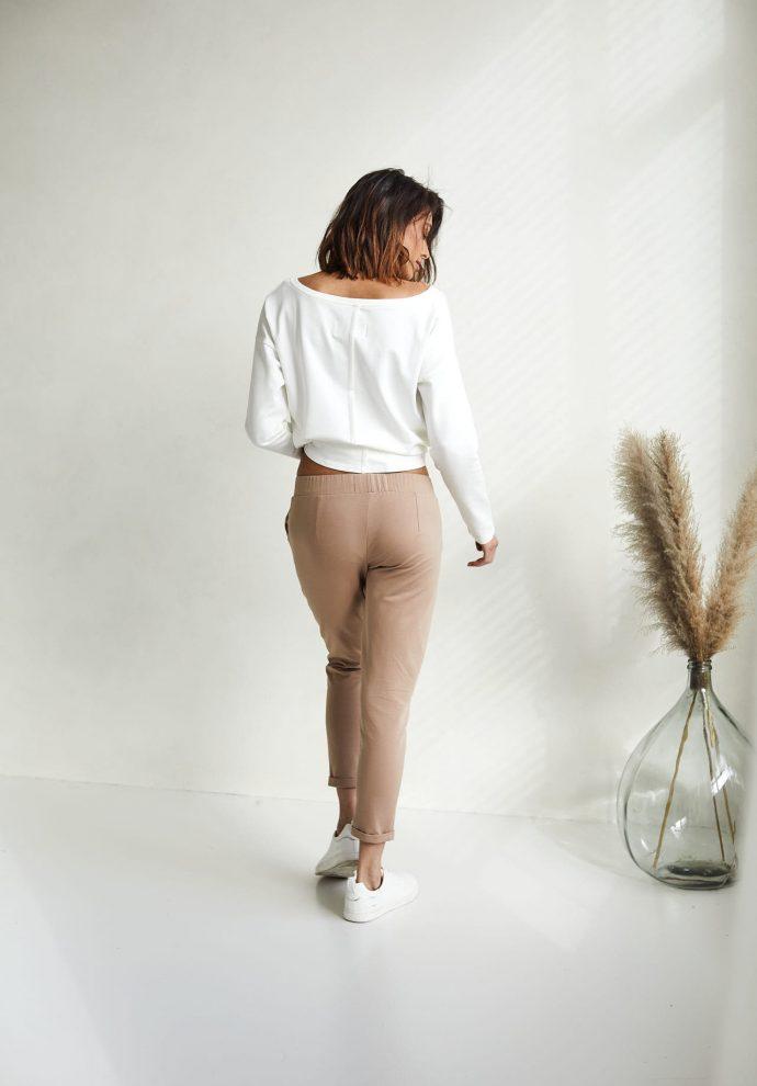 spodnie Bianca kamelowe - zdjęcie 2