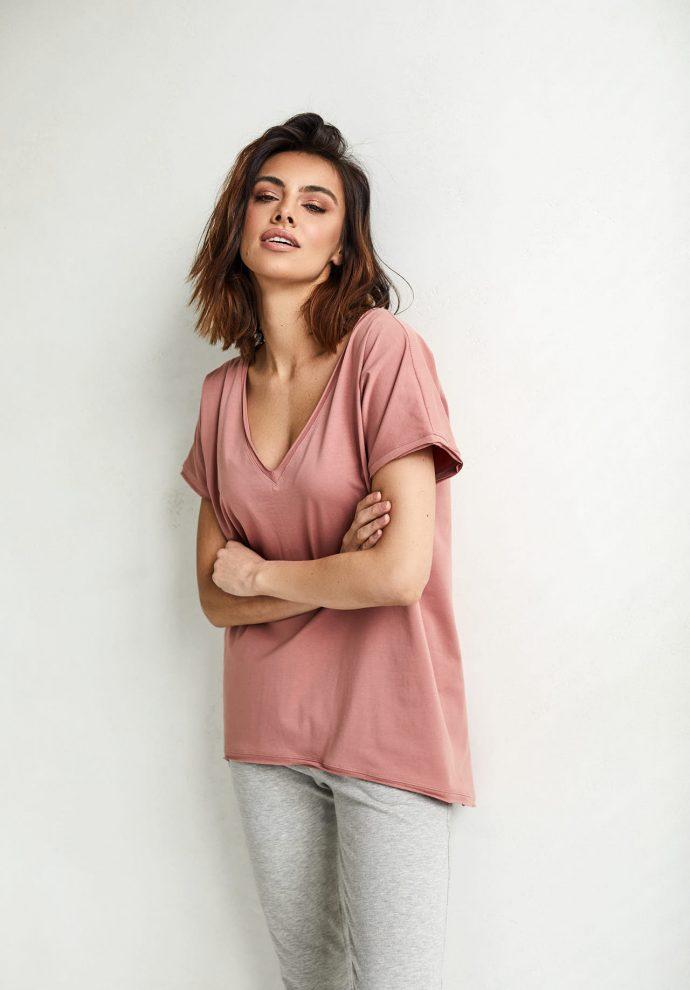 T-shirt Ella zgaszony róż