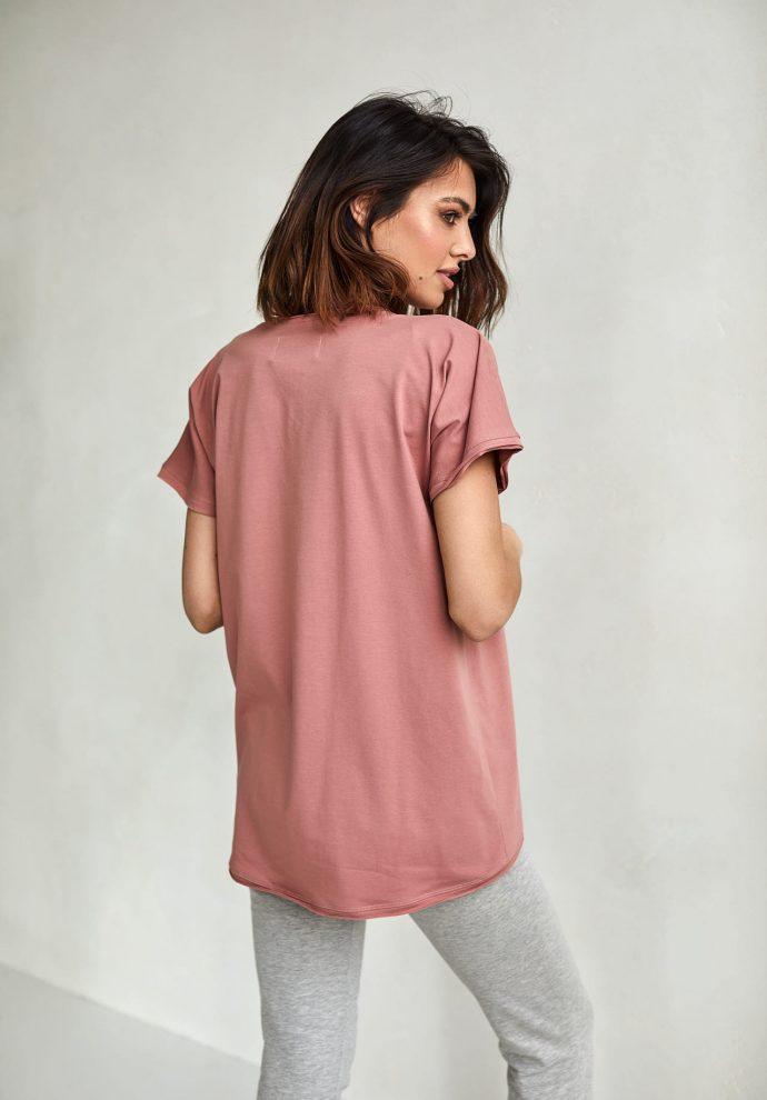 T-shirt Lily zgaszony róż- zdjęcie 3