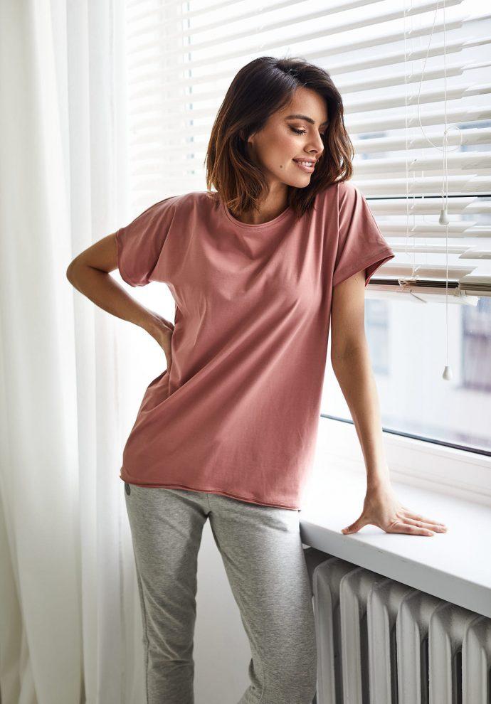 T-shirt Lily zgaszony róż- zdjęcie 2