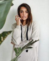 długa bluza Selena piaskowa- zdjęcie 4