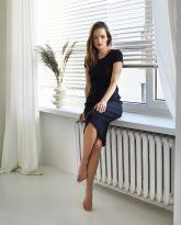 sukienka ściągaczowa Suzane czarna- zdjęcie 3