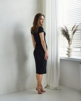 sukienka ściągaczowa Suzane czarna- zdjęcie 2