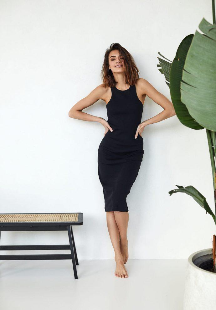 sukienka bokserka Suzane czarna- zdjęcie 2