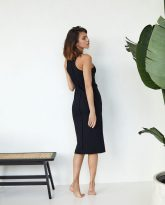 sukienka bokserka Suzane czarna- zdjęcie 3