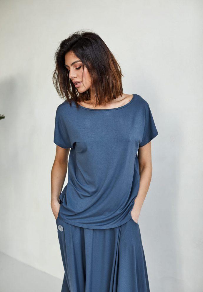 bluzka Noemi denim - zdjęcie 2