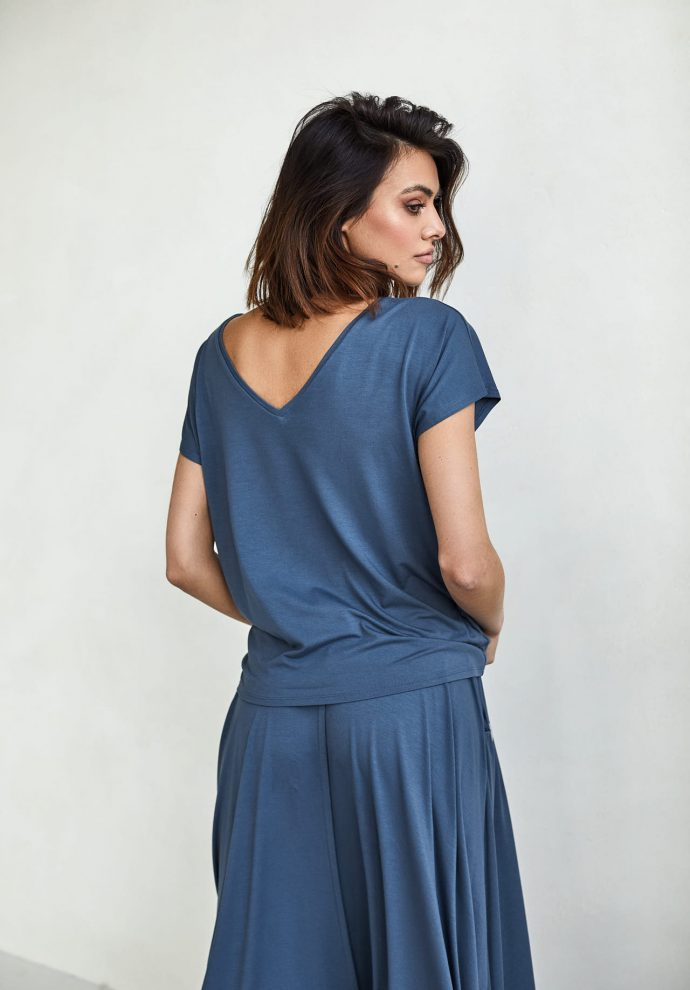 bluzka Noemi denim - zdjęcie 3