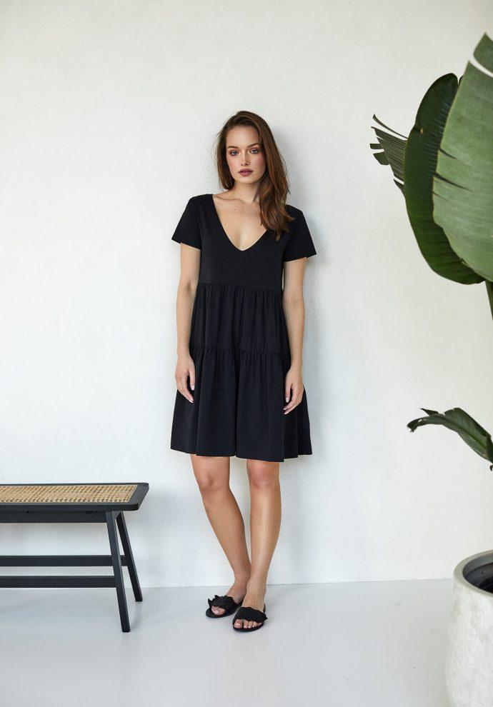 sukienki Karen czarna- zdjęcie 2