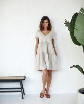 sukienki Karen piaskowa