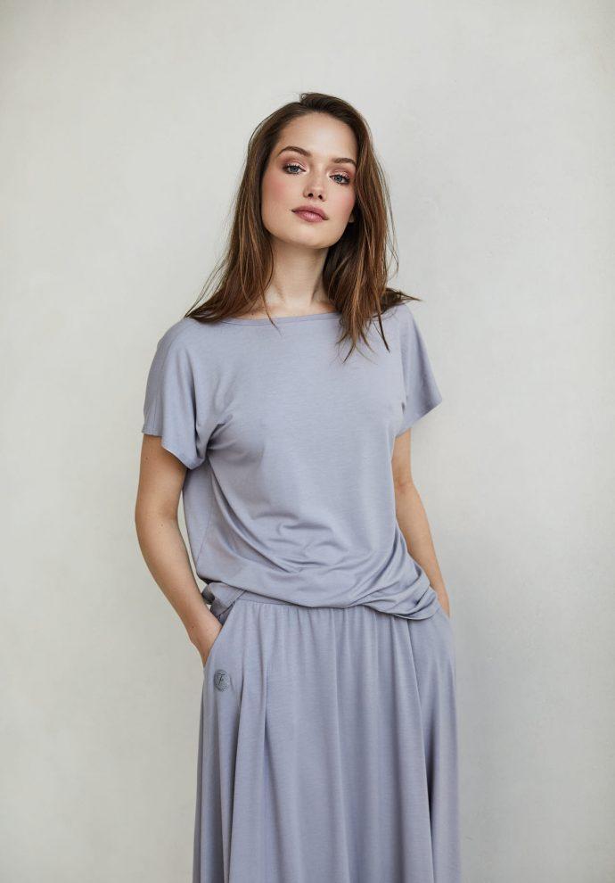 bluzka Noemi szara- zdjęcie 2