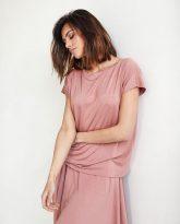 bluzka Noemi zgaszony róż- zdjęcie 2