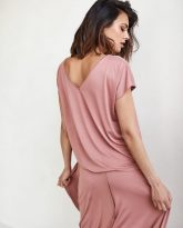 bluzka Noemi zgaszony róż- zdjęcie 3