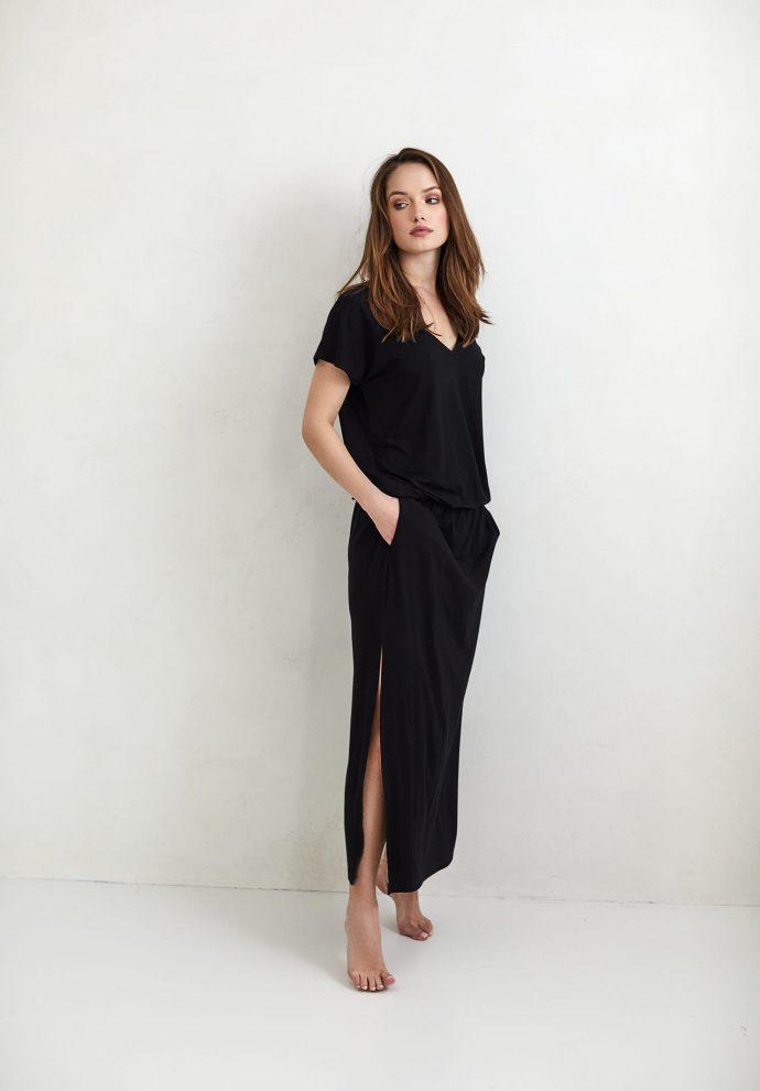 Sukienka Patrizia długa czarna