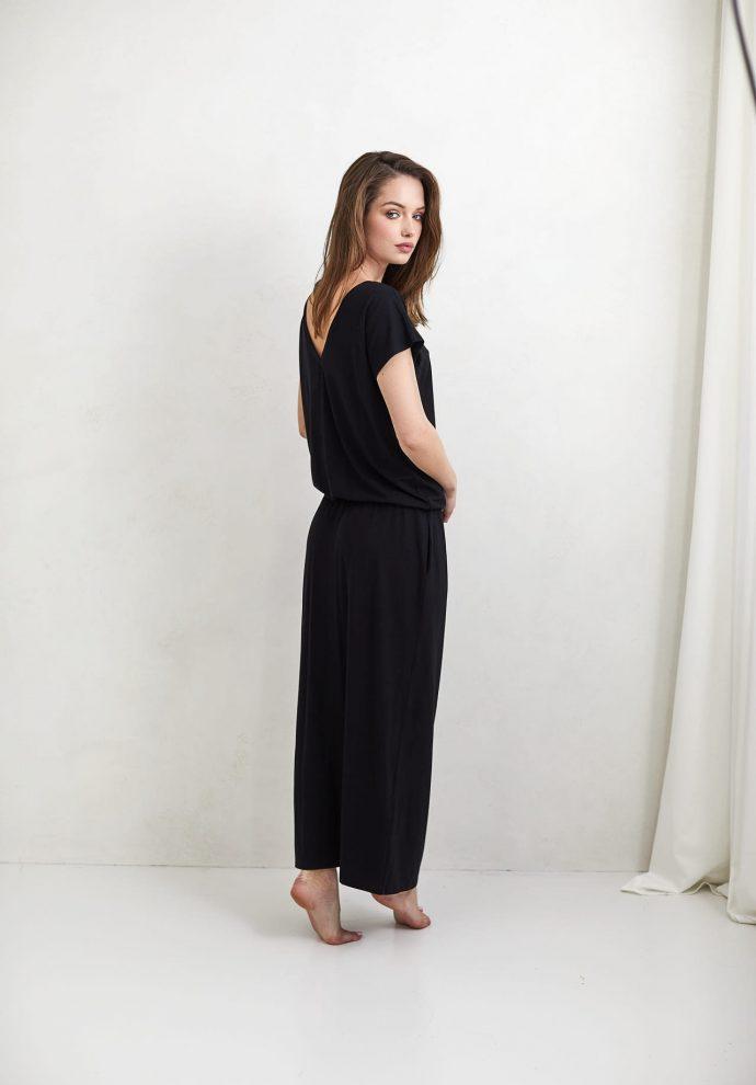 Sukienka Patrizia długa czarna - zdjęcie 3