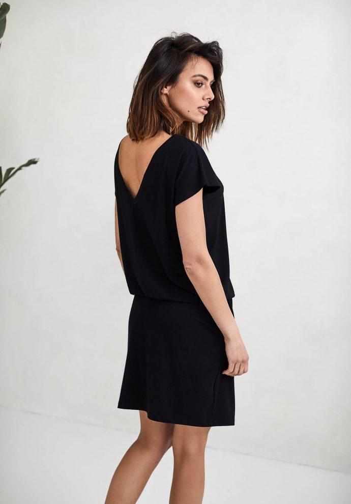 sukienka Patrizia czarna- zdjęcie 3